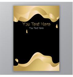 elegant golden black background with 3d waves vector image