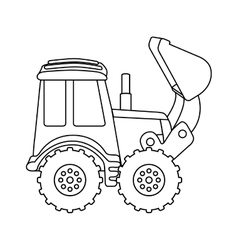 Excavator machine design vector