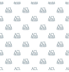 find friends pattern seamless vector image