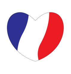 flag of france in a heart shape vector image