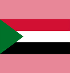 flag of sudan in national colors with a triangle vector image