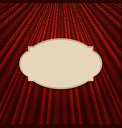 Frame on a textile red background vector