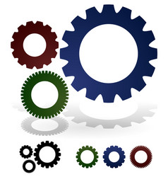 gears composition vector image