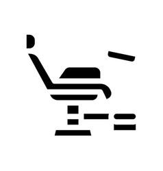 Generic chair icon glyph vector