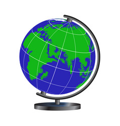 globe isolated on white background vector image