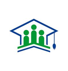graduate academic logo icon vector image