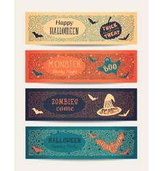 Halloween Party Cards vector image