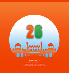 happy republic day india-26 january vector image