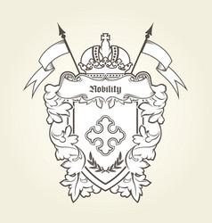 Heraldic emblem - royal coat arms vector