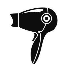 hot hair dryer icon simple style vector image