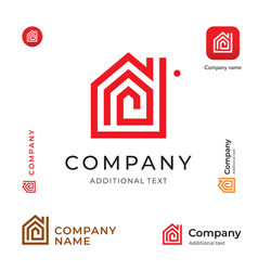House construction modern logo building business vector