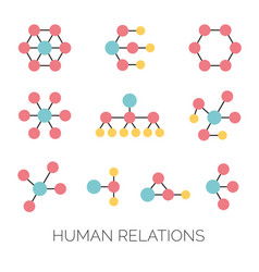 Human relations simple charts hierarchy vector