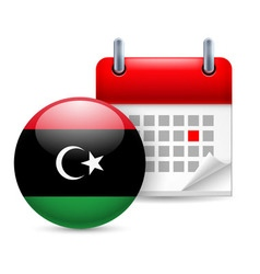 Icon of national day in libya vector