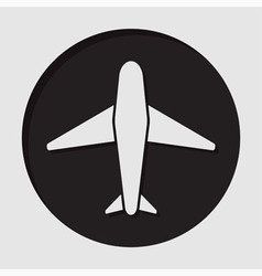 information icon - airplane vector image