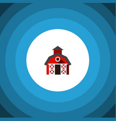 Isolated farmhouse flat icon barn element vector