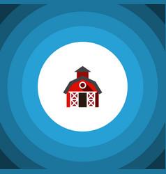 Isolated farmhouse flat icon barn element vector