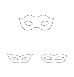 Isolated object masquerade and mystery logo vector
