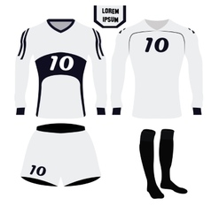 Isolated soccer uniform vector