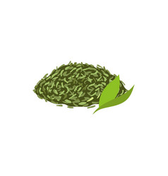 Leaf tea flat isolated vector