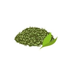 Leaf tea flat isolated vector