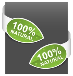 Left and right side signs 100 natural vector