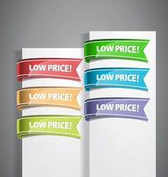Low Price Labels vector image