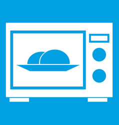 Microwave icon white vector