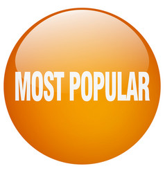 Most popular orange round gel isolated push button vector