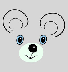 mouse cute funny cartoon head vector image