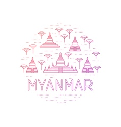 Myanmar country travel identity vector