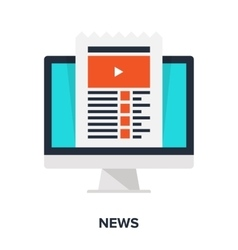 news flat concept vector image
