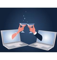 Online date vector image