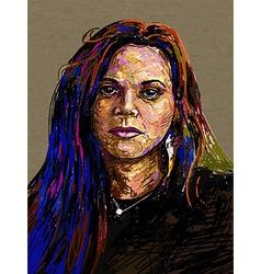 Original digital painting portrait of women vector
