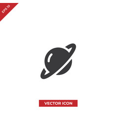 planet icon vector image