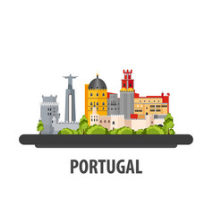 Portugal travel location vacation or trip and vector