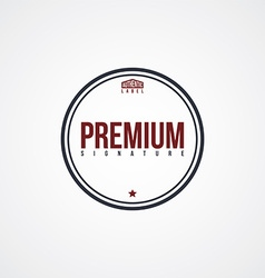 premium label theme vector image