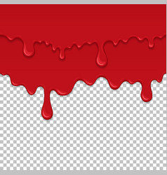 Red sticky liquid seamless element vector