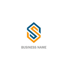 s initial business logo vector image
