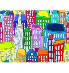 Seamless cityscape vector image