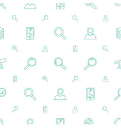 search icons pattern seamless white background vector image