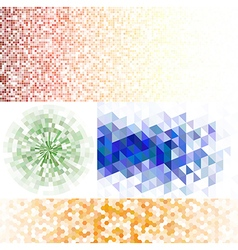 Set of mosaic backgrounds vector image