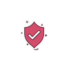 sheild protected icon design vector image