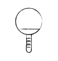 sketch draw ping pong racket vector image