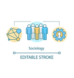Sociology concept icon community idea thin line vector