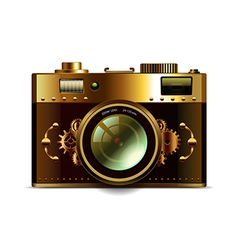 Steampunk camera isolated vector