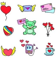 Stock of love romance doodles vector