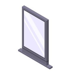 Street city lightbox icon isometric style vector