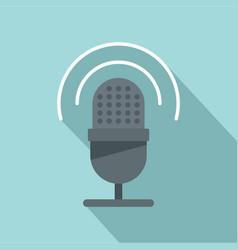 studio microphone icon flat style vector image