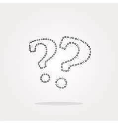 Stylish web button with question mark Web vector image