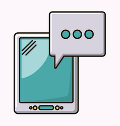 tablet technology isolated icon vector image